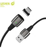 Универсальный магнитный usb кабель Wsken X1 Pro Type C - зарядка и передача данных 3.0 А