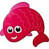 Рыбка розовая -запятая. Мини-коврики оптом