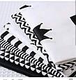 Сатин (хлопковая ткань)  крупные черные короны, фото 3