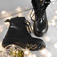 Женские зимние ботинки Dr. Martens Jadon черные, кожаные