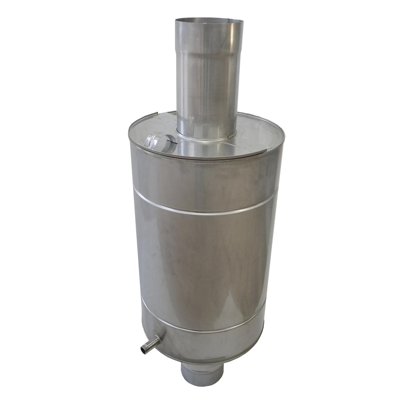 Труба-бак ø120 мм 50 л 1 мм AISI 321/304 Stalar для нагрева воды дымохода сауны бани из нержавеющей стали