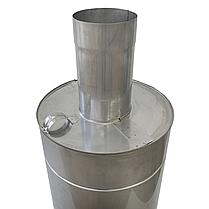 Труба-бак ø120 мм 50 л 1 мм AISI 321/304 Stalar для нагрева воды дымохода сауны бани из нержавеющей стали, фото 3