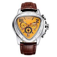 Мужские механические часы Jaragar Speed желтые