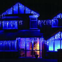 Новогодняя уличная гирлянда Бахрома-10м, 200 LED диодов,синие свечение!