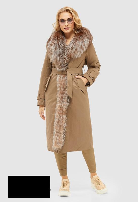 Пальто женское зимнее с натуральным мехом размеры: 44-52
