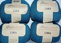 Нитки для вязания Fibranatura Lima морская волна