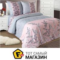 Комплект постельного белья полуторный 147x216 см хлопок серый, розовый Зоряне Сяйво Соло полуторный, 70x70см (4124/4762)