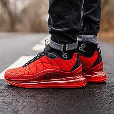 Кроссовки мужские Nike Air Max 720 - Термо (красные) Top replic, фото 3