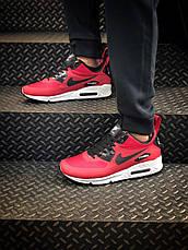 Кроссовки мужские Nike Air Max Ultra 90 (красные) Top replic, фото 3