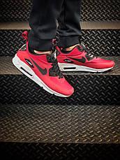 Кроссовки мужские Nike Air Max Ultra 90 (красные) Top replic, фото 2