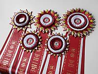 Наши розетки для Международной сертификационной выставки собак всех пород FCI-CACIB «Кубок ХАРЬКОВА - 2019»