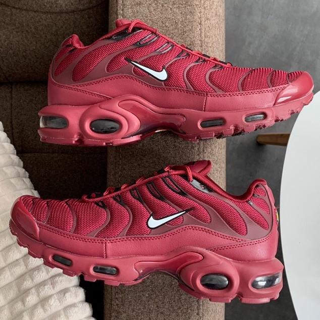Кроссовки мужские Nike Air Max Tn (красные-бордовые) Top replic
