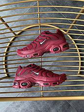 Кроссовки мужские Nike Air Max Tn (красные-бордовые) Top replic, фото 3