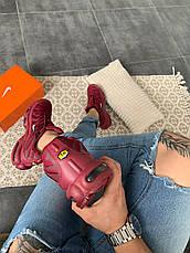 Кроссовки мужские Nike Air Max Tn (красные-бордовые) Top replic, фото 2