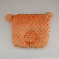 Ортопедическая подушка для новорожденного плюшевая
