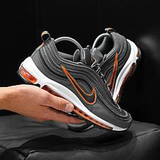 Кроссовки мужские Nike Air Max 97 Рефлектив (серые) Top replic, фото 3