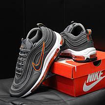 Кроссовки мужские Nike Air Max 97 Рефлектив (серые) Top replic, фото 2