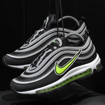 Кроссовки мужские Nike Air Max 97 Рефлектив (черные) Top replic, фото 2