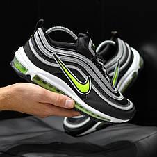 Кроссовки мужские Nike Air Max 97 Рефлектив (черные) Top replic, фото 3