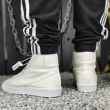 Кроссовки мужские Nike Blazer Mid (белые) Top replic, фото 2