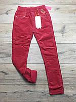 Утепленные вельветовые брюки на флисе для девочек. 14 лет.