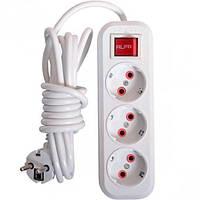 Електричний подовжувач з вимикачем на 3 шт/5 м