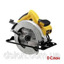 Пила дисковая STANLEY SC16, 1600 Вт, диск 190 мм, 5500 об/мин, глубина пропила 65 мм, угол накл. 45°