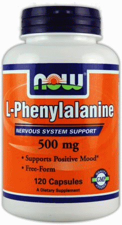 L-Фенілаланін, Now Foods, L-Phenylalanine, 500 mg, 120 Caps
