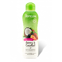 Шампунь Тропиклин ягода кокос для кошек глубокого очищения Tropiclean Berry Clean Shampoo 355 мл