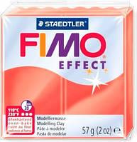 Пластика Effect, Красная полупрозрачная, 57г, Fimo 8020-204 УЦЕНКА СРОК ГОДНОСТИ ИСТЕК В 2020г