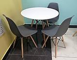 Пластиковый стул на буковых ножках M-05 серый Vetro Mebel (бесплатная доставка), фото 8