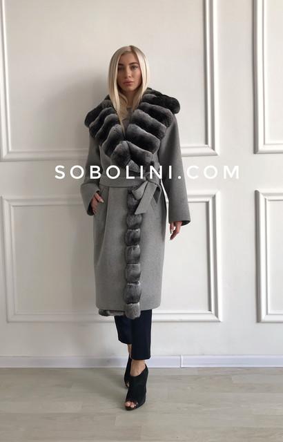 Пальто з натуральним хутром, індпошив