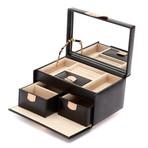 Шкатулки для украшений Wolf 301102 Chloe Small Box Black