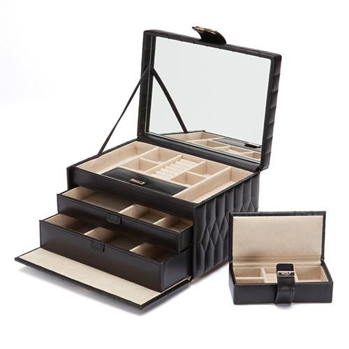 Шкатулки для украшений Wolf 329771 Caroline Med Box Black