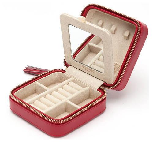 Шкатулки для украшений Wolf 329972 Caroline Zip Case Red
