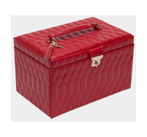 Шкатулки для украшений Wolf 329672 Caroline Lg Box Red