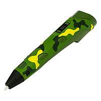 3D ручка с LCD дисплеем 3042-1H 5B | 2А (сопло 0.6 мм, темп. 160-235 гр С, ABS | PLA 1.75 мм) Камуфляж