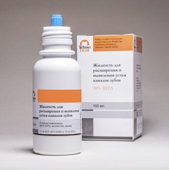 Edetale Liquid  Жидкость для расширения и выявления устья каналов зубов ЕДТА 20% , 100мл, TehnoDent