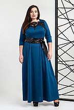 Платье мод 540-8 ,размер 50,52,54,56 морская волна