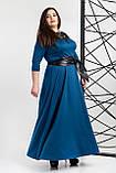 Платье мод 540-8 ,размер 54,56 морская волна, фото 2