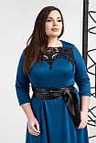Платье мод 540-8 ,размер 54,56 морская волна, фото 3