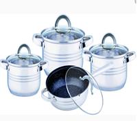 Набор посуды из нержавеющей стали Benson BN-194 (8 пр.)