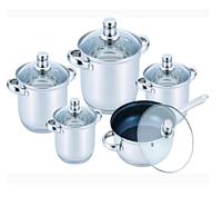 Набор посуды из нержавеющей стали Benson BN-195 (10 пр.)