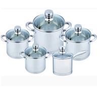 Набор посуды из нержавеющей стали Benson BN-248 (10 пр.)