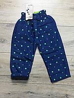 Теплые штаны на флисе для девочек. 2 года.