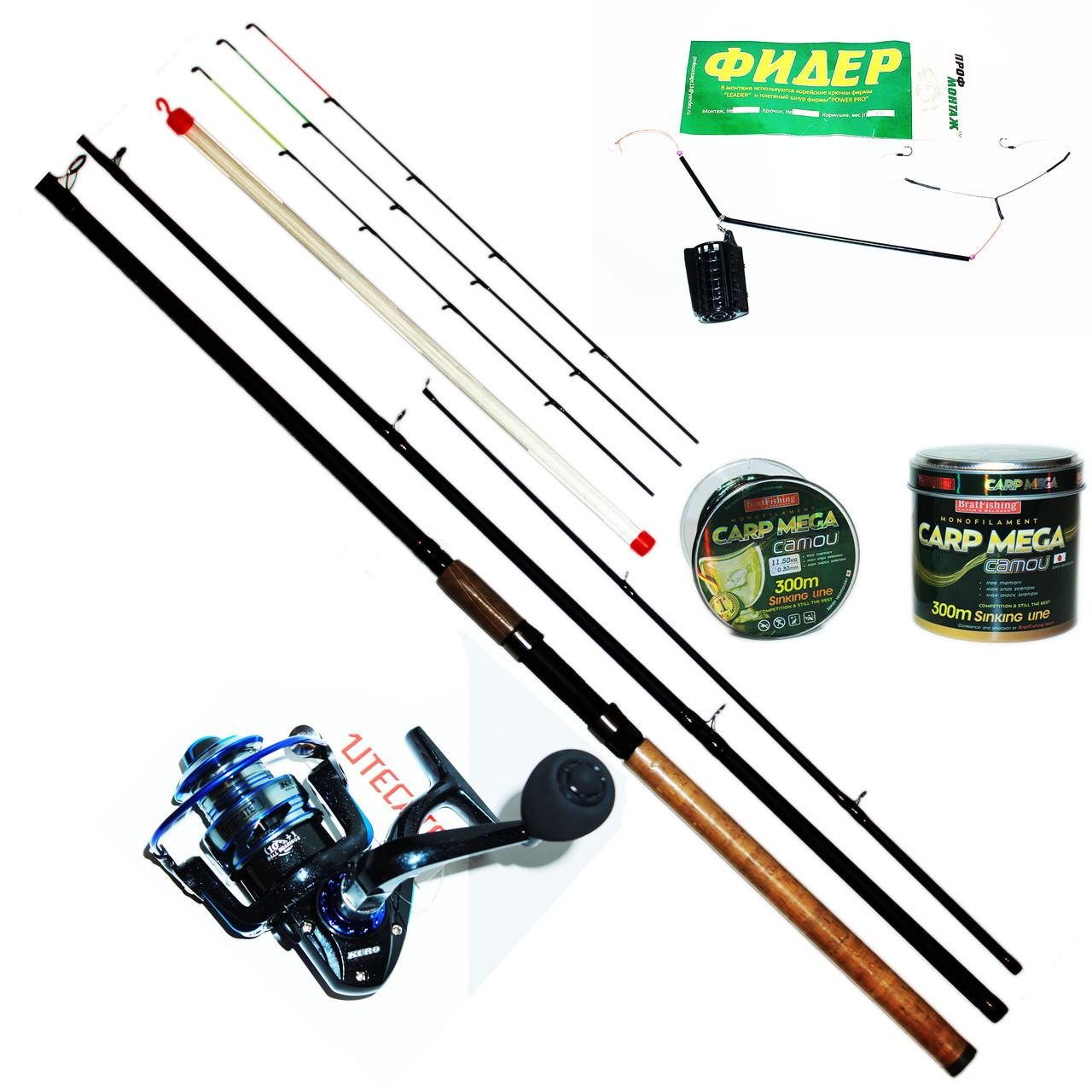 Фидерный спиннинг набор Bratfishing TAIPAN FEEDER 3.0 м. / 80-180 g