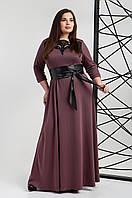 Платье мод 540-9 ,размер 50,52 баклажан