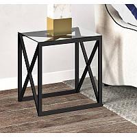 """Кофейный столик со стеклом в стиле лофт """"Лука"""""""