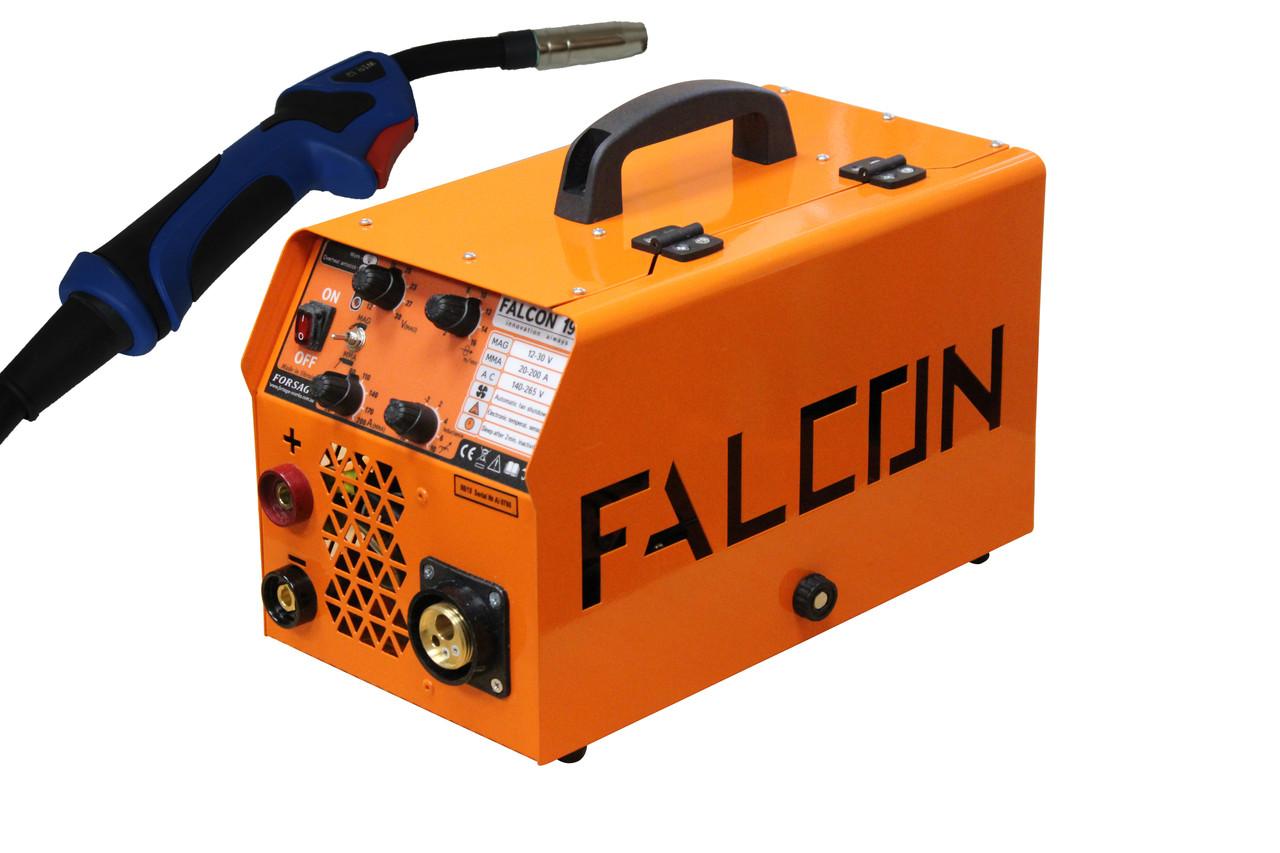 Полуавтомат инверторный FORSAGE FALCON 190 EURO MIG/MMA (ГОРЕЛКА+КАБЕЛЬ МАСЫ)