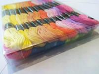 Нитки для вишивання муліне, набір 24 кольори по 8 м